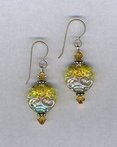 Canary Yellow Glass Bead Earringsjewelry by Gladisis on Etsy, $15.00