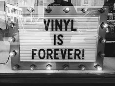 I still have a ton of records and a record player...love it