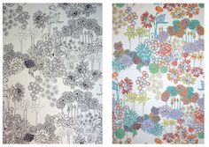 Colour Me In Wallpaper by Natalie Ratclyffe