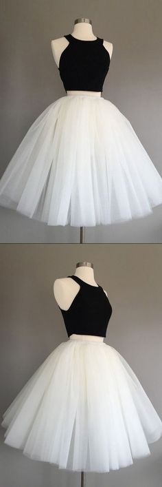 Homecoming Dress,Homecoming Dress Short,Prom Dress Short,Cheap Prom Dresses,Cheap Homecoming Dresses,Cheap Evening Dress,Homecoming Dresses Cheap,Quality Dresses,Party Dress,Fashion Prom Dress,Prom Gowns,Dresses for Girls,Prom Dress,Simple Prom Dresses,Ivory Tulle Halter Knee-Length Two Piece Sleeveless Homecoming Dress, SH240