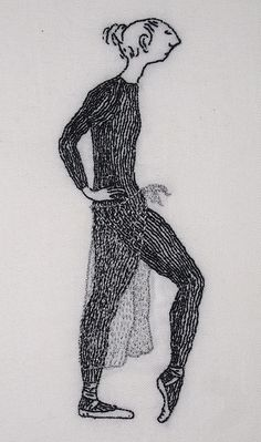 Edward Gorey embroidery by Judith Pudden, via Flickr