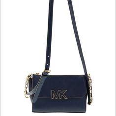 Michael kors navy cross body Brand new MK crossbody. Very practical and cute. MICHAEL Michael Kors Bags Crossbody Bags