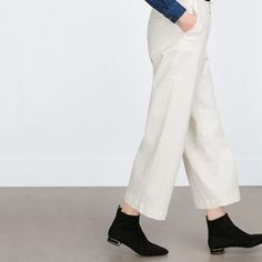 gold frame Zara United States, Must Haves, Ankle Boots, Pajama Pants, Sweatpants, Pairs, Detail, Shoes, Collection