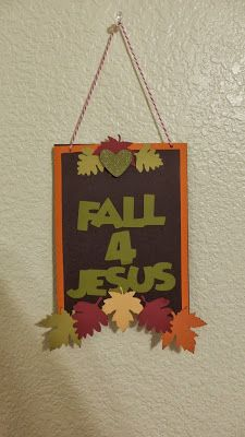 I made this cute banner piece for my 3rd & 4th grade Sunday School class to make. I cut out all the pieces at home and assembled nine kits. ...