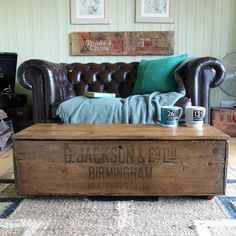 VINTAGE INDUSTRIAL CHEST Coffee Table Trunk MILITARY CHEST Retro Tool Box  CHEST | Vintage Industrial, Vintage Trunks And Industrial
