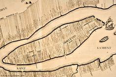 La division des terres sur l'île d'Orléans en 1709. Chute Montmorency, La Rive, France 2, Canadian History, Genealogy Research, Quebec City, Old Pictures, Ancestry, Family History
