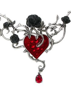 Bed of Blood Roses Necklace by Alchemy Gothic