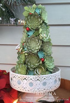 Oh So Succulent Christmas Tree ~ Monday Montage by Breelin Renwick | Craft-somnia Momma