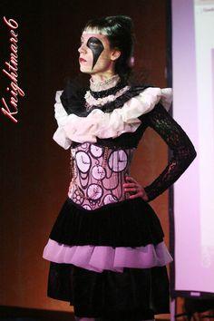 Bit more punk than steam. -Love the corset print.