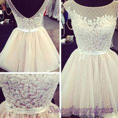 White round neck sleeveless sash tulle mini bridesmaid dress,gown