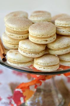 Snickerdoodle Macarons with Snickerdoodle Cookie Dough Frosting! bethcakes.com