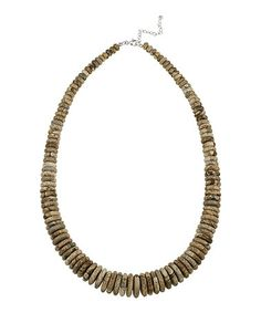 Take a look at this Jasper & Sterling Silver Beaded Necklace by Designs by FMC on #zulily today! $28 !!