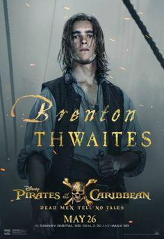 Neues Poster zu Fluch der Karibik 5: Brenton Thwaites
