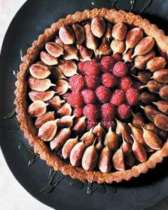 Fresh Fig and Raspberry Tart with Honey  Recipe