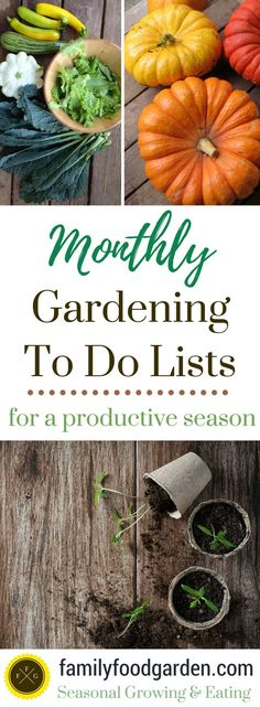 Monthly Gardening To Do Lists