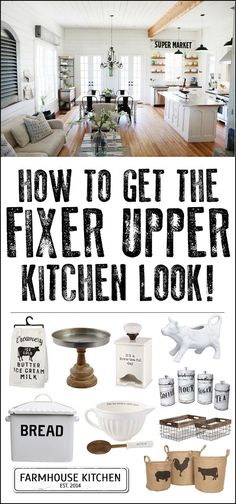50 farmhouse finds!!! Love these decor items to finish off a farmhouse kitchen. Just like Fixer Upper!!!