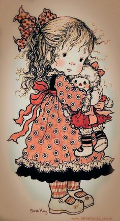 Sarah Kay Sarah Key, Retro Images, Cute Images, Cute Pictures, Holly Hobbie, Illustrations Vintage, Stitch Book, Raggedy Ann And Andy, Decoupage Vintage