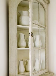 Tone on Tone:white collection of pitchers