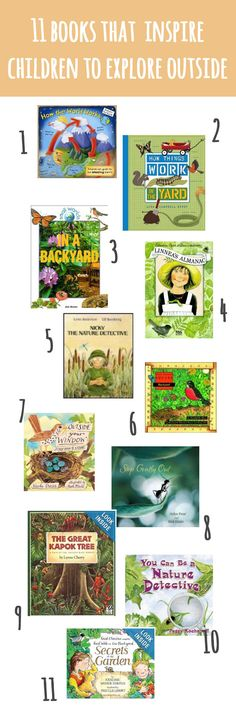 books for exploring outside #ece #education