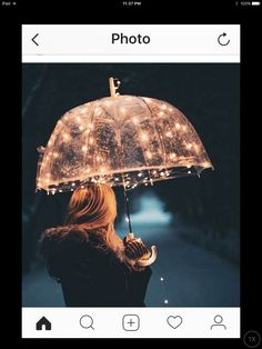 Fairy lights can make anything beautiful Jolie Photo, Fairy Lights, Solar Lights, Pretty Pictures, Love Pics, Rain Pictures, Portrait Photography, Umbrella Photography, Rainy Day Photography