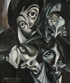 The Beatles, oil on canvas