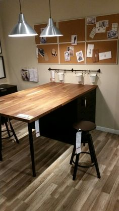 DIY IKEA desk Parts: KARLBY Countertop, beech: $139 SJUNNE ...