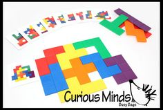 Learning game Tetris Pattern Match Busy by CuriousMindsBusyBags, $15.00
