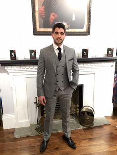 A wee taste of Spring on a Winters Day. Introducing from our Spring Summer range, an extra sharp new check 3 piece suit with a double breasted waistcoat. This winner is going down a treat already!! It won't last long either so get on it!!
