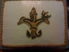 Sportsman's Fluer De Lis Birthday Cake