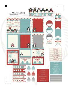 Hello and Welcome. The Playful Penguins weekly sticker set includes everything you need to plan a winter layout in your planner. This set has