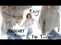 Smitten by this super easy crochet fringe top I created for you this week! Easy and simple Crochet stitches needed to create this Boho Fringe beauty! Happy Crochet to all! Yarn Used in this Tutorial: Loops and Crochet Fringe, Crochet Braids, Crochet Yarn, Easy Crochet, Crochet Stitches, Crochet Hooks, Tutorial Crochet, Crochet Shrugs, Crochet Clutch
