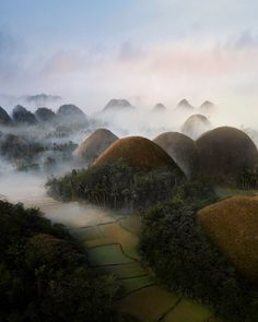 These odd shaped things in the Philippines are called 'The Chocolate Hills' [OC] : EarthPorn (post by u/malthezimakoff) Bohol Philippines, Philippines Travel, Places Around The World, Around The Worlds, Chocolate Hills, Before Sunrise, Amazing Destinations, Travel Destinations, Landscape Photographers