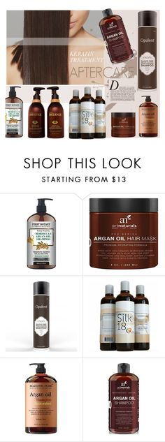 """""""Keratin Treatment Aftercare"""" by style-lena ❤ liked on Polyvore featuring beauty, Anja, smoothhair, keratin and keratintreatment"""
