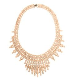 In soft nude pink, the Invitation Rachel Necklace is the luxe way to wear statement jewellery this season. Statement Jewelry, Jewelry Necklaces, Jewellery, Anniversary Outfit, Pearl Necklace, Invitations, Beige, Pearls, Pink