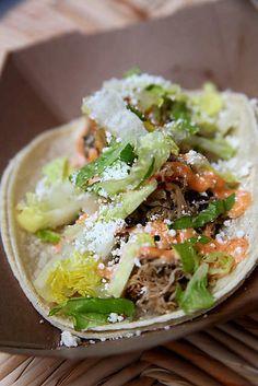 Alabama Chicken Taco at Mexicue (New York, NY). #UniqueEats #tacos