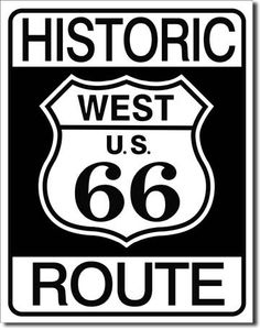 Historic Route 66 Tin Sign, $8.95