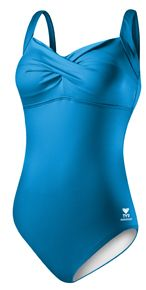 TYR solid twisted bra tank swimsuit $74