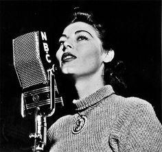 Ava Gardner on the air at NBC Studio, 1951    by Murray Garrett