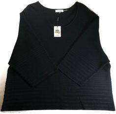 Calvin Klein BLACK SWEATER Stretch Womens Plus Size 3X Top NWT $89.50 #CalvinKlein #Sweater