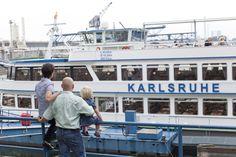 Fahrt mit der MS Karlsruhe, make a boat trip with the MS Karlsruhe