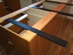 Countertop supports for islands are hidden and simple to install. Made of half inch steel these brackets securely support granite kitchen island overhangs.