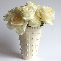 Vase w/ Column Beads - Frances Palmer Handmade Collection #DreamDigs #Classic