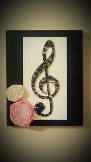 quilling music frame