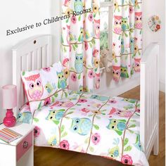 Owl and Friends, Girls Toddler Bedding