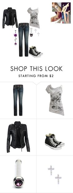 """""""twilight3"""" by charismatic-chic ❤ liked on Polyvore featuring Wet Seal, MuuBaa, Converse, 2b bebe, women's clothing, women's fashion, women, female, woman and misses"""