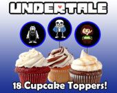 Undertale Cupcake Toppers!