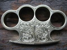 Custom Engraved Brass Knuckles | Gear | Pinterest | Brass Knuckles ...