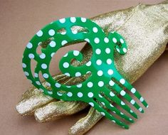 Vintage Hair Comb Spanish Dance Flamenco Green by ElrondsEmporium, $25.00