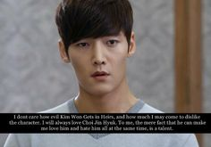 K-Drama Confessions...no matter what I'll always love him. I just wish his character wasn't so mean to Kim Tan in Heirs.