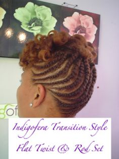 Natural Hair Updo Styles | ... Blog: Natural Hair Style ~ Flat Twist Updo with Rods Get the look